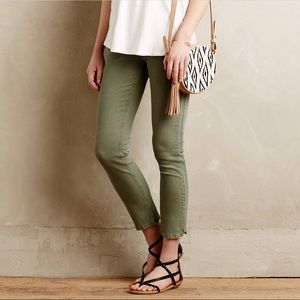 [Pilcro] Anthropologie Green Stet Ankle Jeans